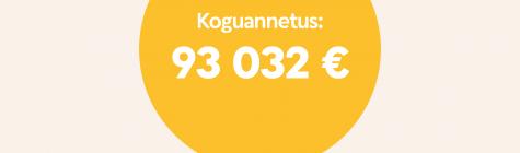 """Annetamistalgud tõid """"Ma armastan aidata"""" organisatsioonidele 93 000 euro eest annetusi"""