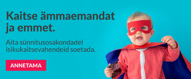 The Estonian Maternity Hospital Support Fund: help purchase PPE for maternity hospitals