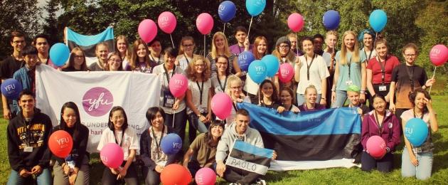 """YFU Eesti stipendiumifond """"Uks Maailma"""" – tolerantsema Eesti nimel!"""