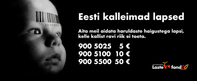 """Tartu University Hospital Children's Foundation: """"No child should be left without help because their treatment is too expensive!"""""""